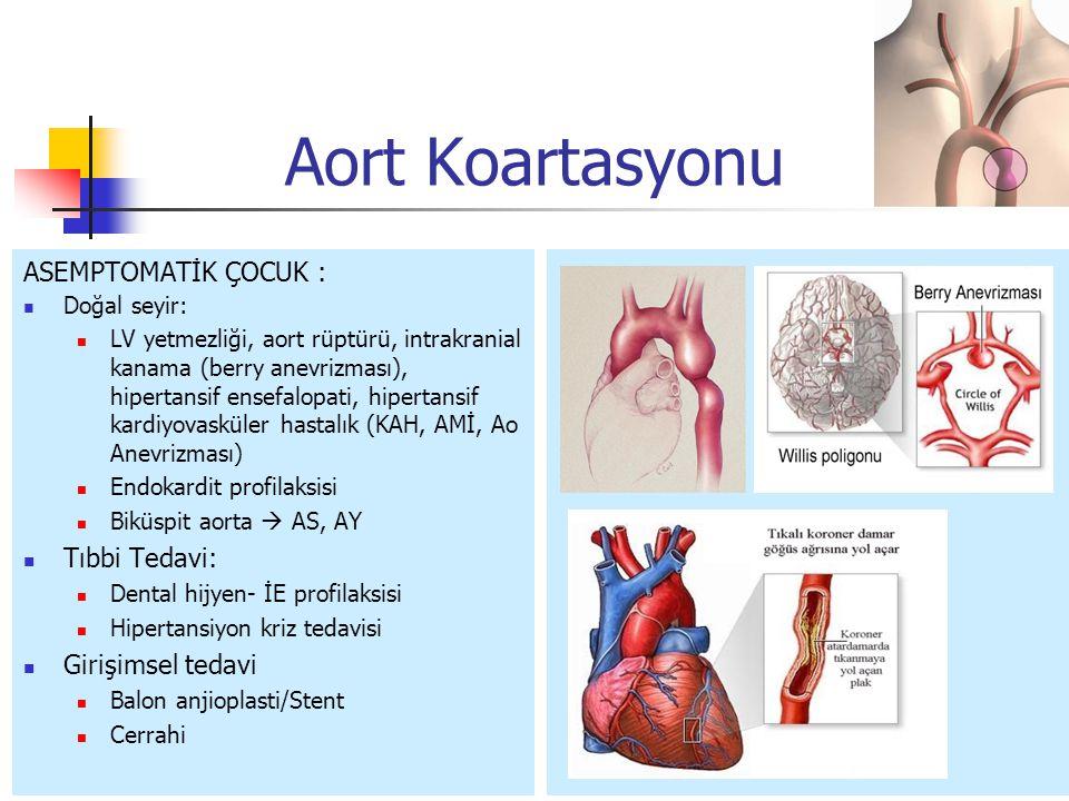 Aort Koartasyonu ASEMPTOMATİK ÇOCUK : Tıbbi Tedavi: Girişimsel tedavi