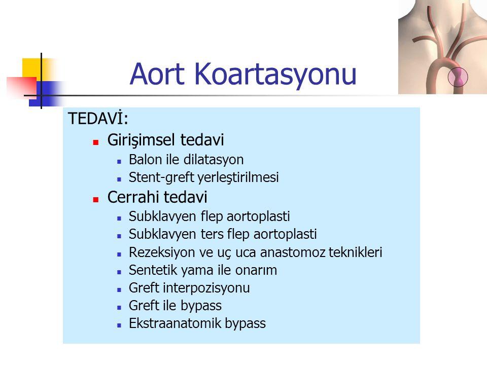Aort Koartasyonu TEDAVİ: Girişimsel tedavi Cerrahi tedavi