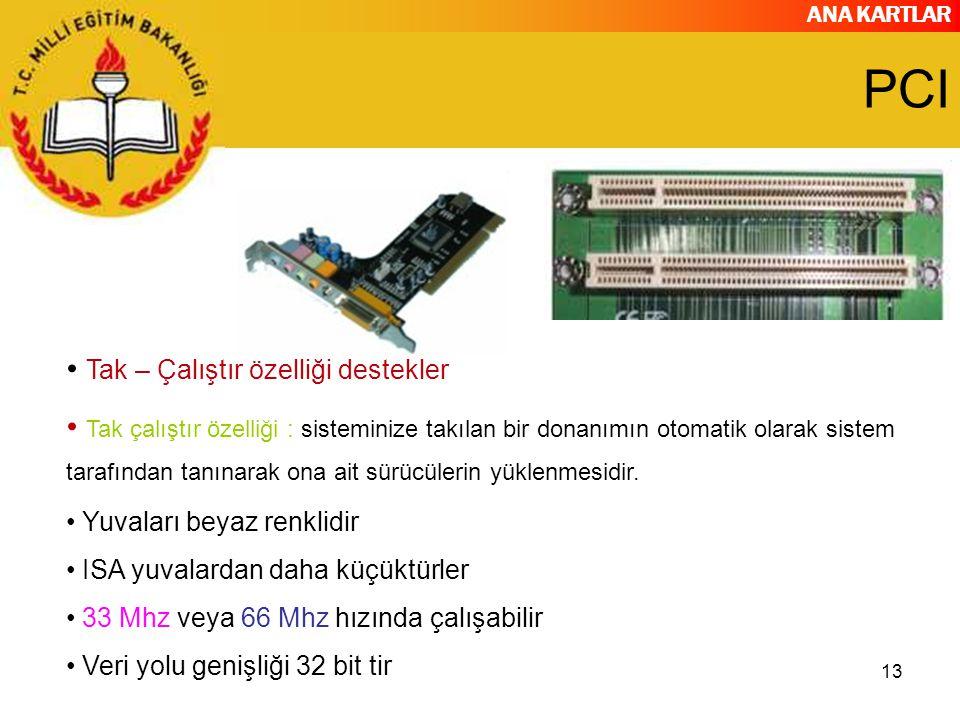 PCI Tak – Çalıştır özelliği destekler