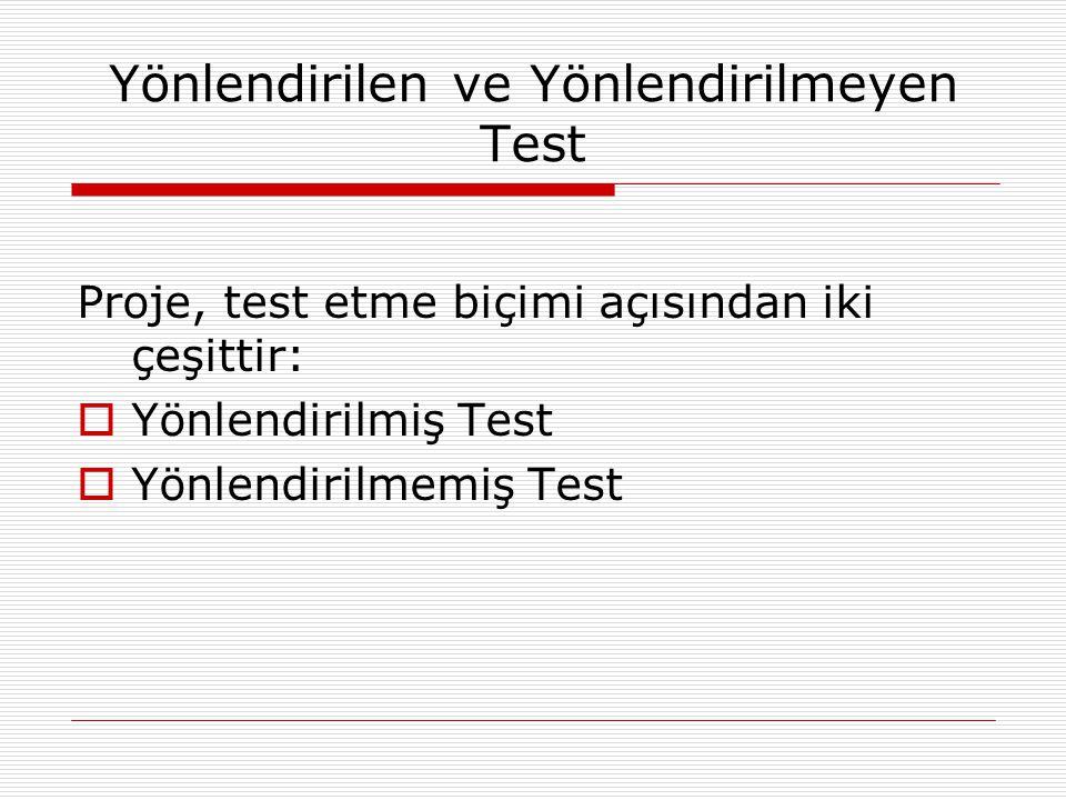 Yönlendirilen ve Yönlendirilmeyen Test