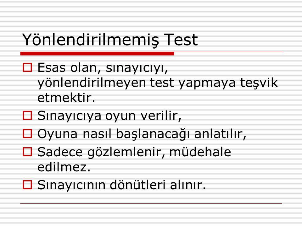 Yönlendirilmemiş Test