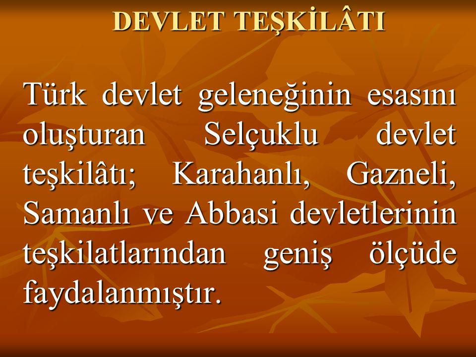 DEVLET TEŞKİLÂTI