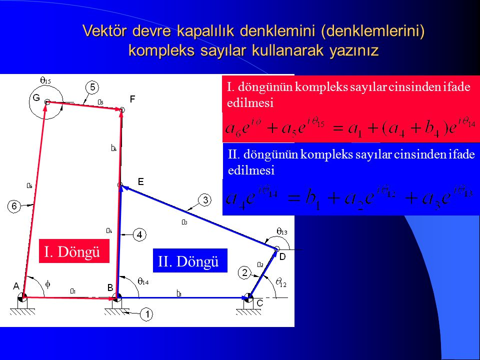 Vektör devre kapalılık denklemini (denklemlerini) kompleks sayılar kullanarak yazınız