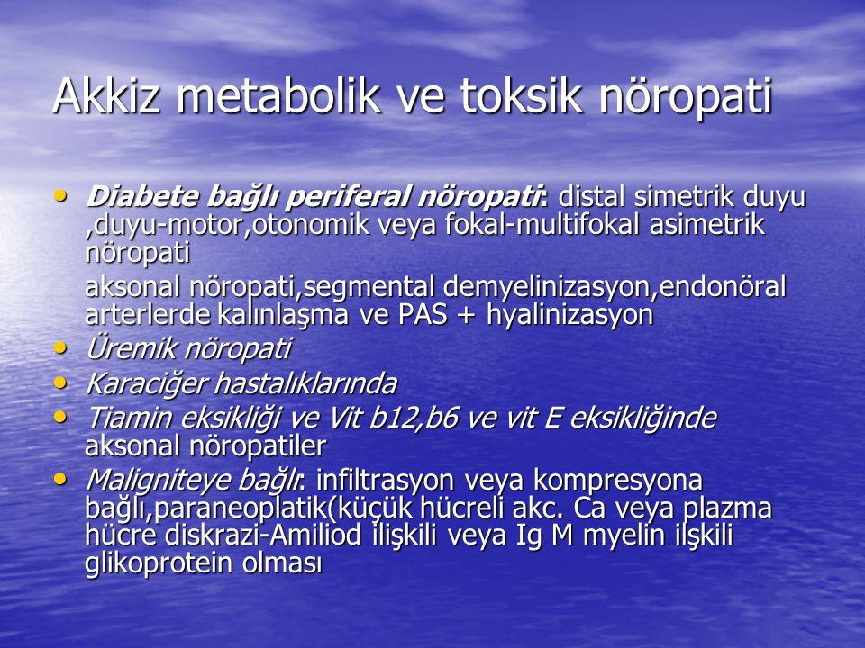 Akkiz metabolik ve toksik nöropati