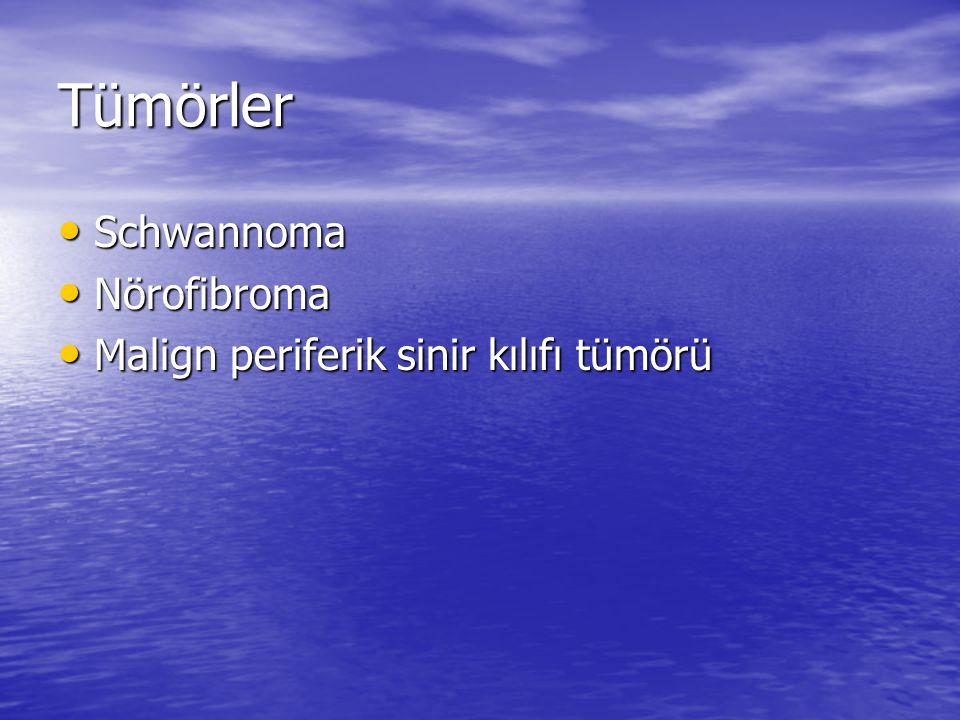 Tümörler Schwannoma Nörofibroma Malign periferik sinir kılıfı tümörü