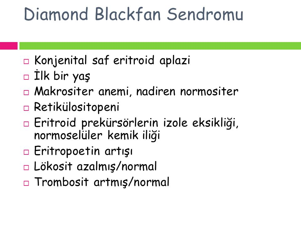 Diamond Blackfan Sendromu