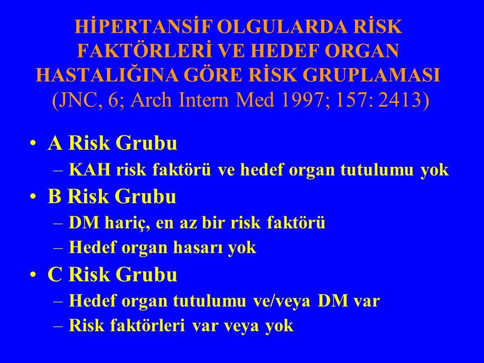 A Risk Grubu B Risk Grubu C Risk Grubu