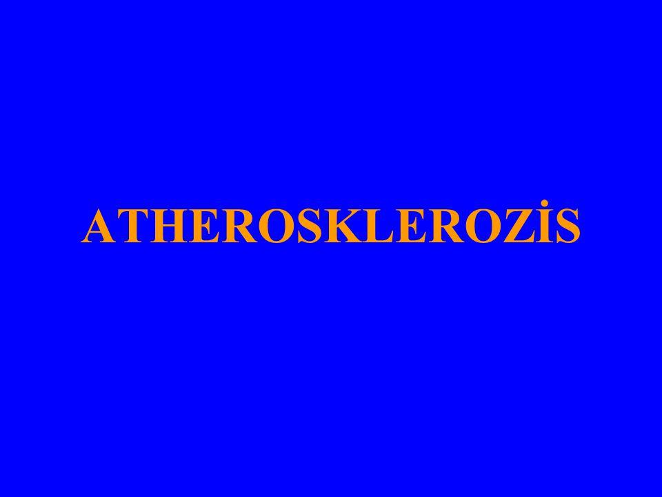 ATHEROSKLEROZİS KVH IN HEMEN HEPSİNDE SORUMLU FAKTÖR ATHEROSKLEROZİSDİR.