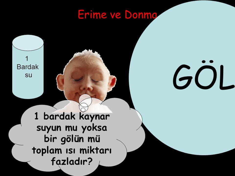 GÖL Erime ve Donma. 1. Bardak. su.