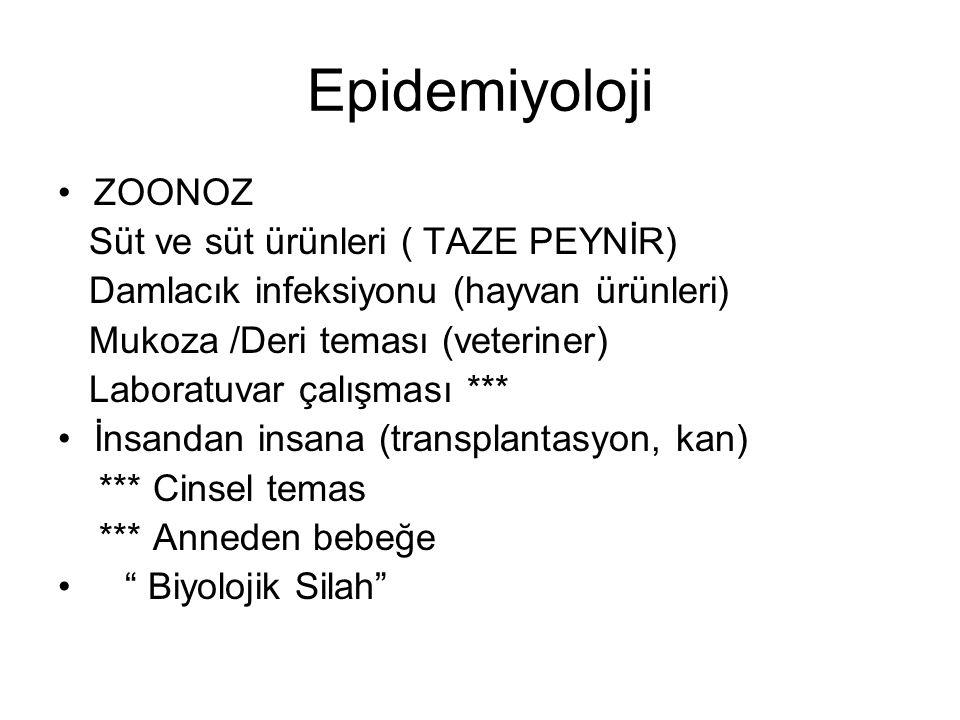 Epidemiyoloji ZOONOZ Süt ve süt ürünleri ( TAZE PEYNİR)