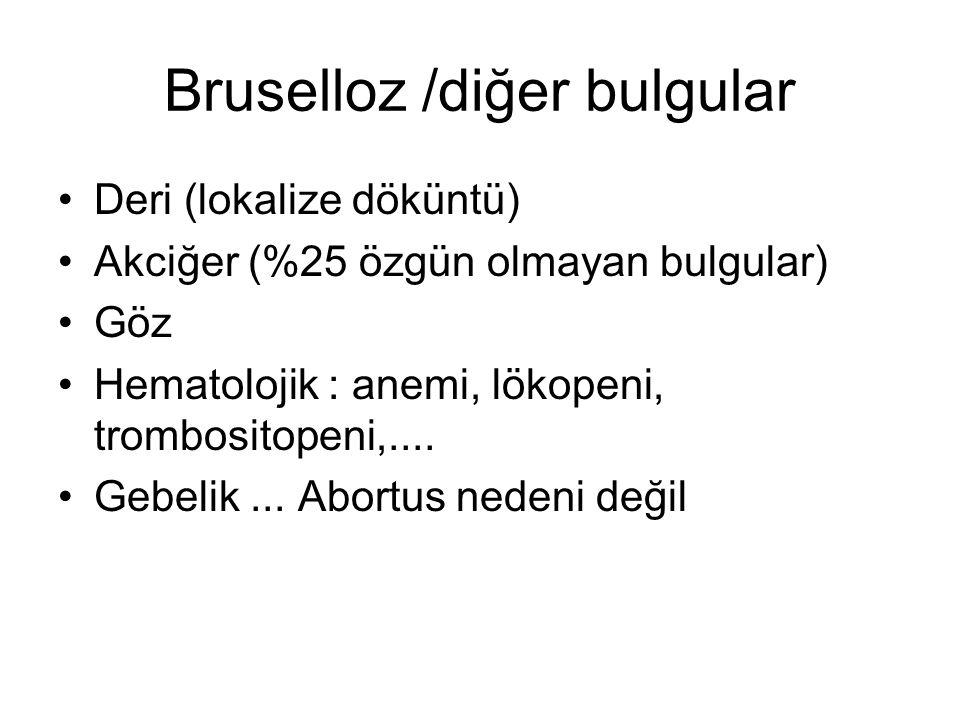 Bruselloz /diğer bulgular