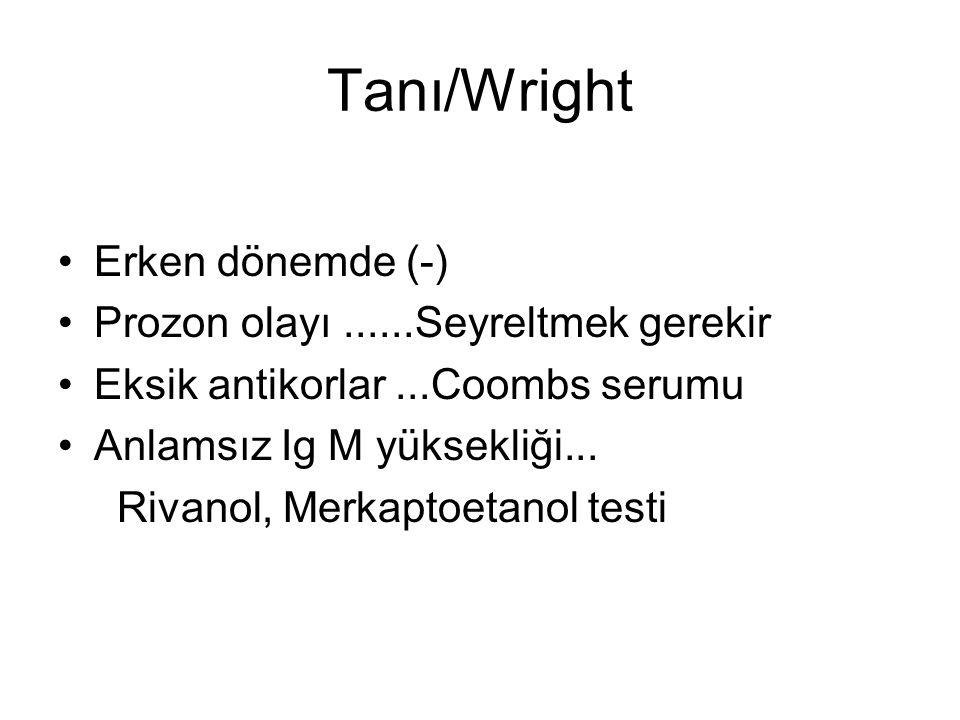 Tanı/Wright Erken dönemde (-) Prozon olayı ......Seyreltmek gerekir