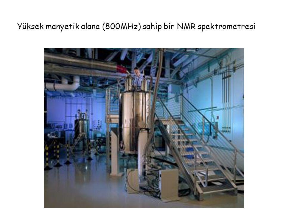 Yüksek manyetik alana (800MHz) sahip bir NMR spektrometresi