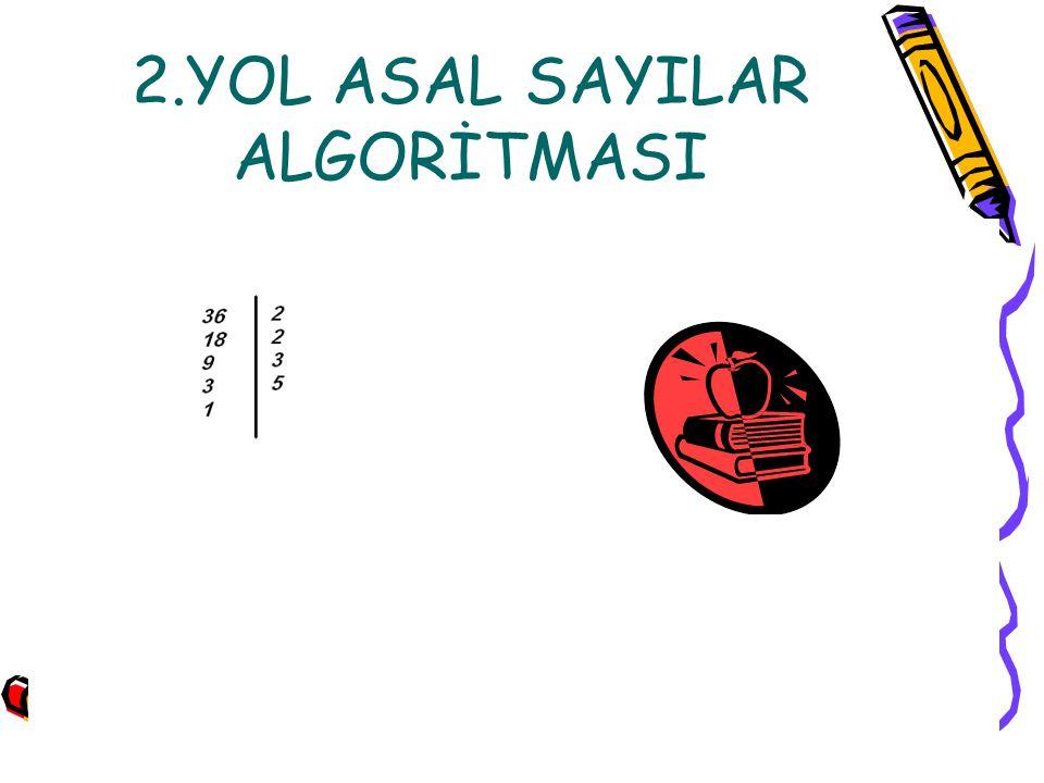 2.YOL ASAL SAYILAR ALGORİTMASI