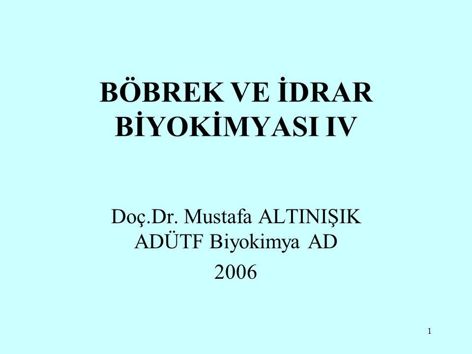 BÖBREK VE İDRAR BİYOKİMYASI IV