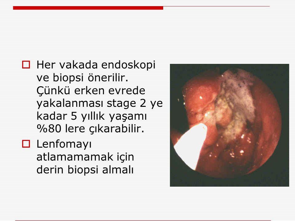Her vakada endoskopi ve biopsi önerilir