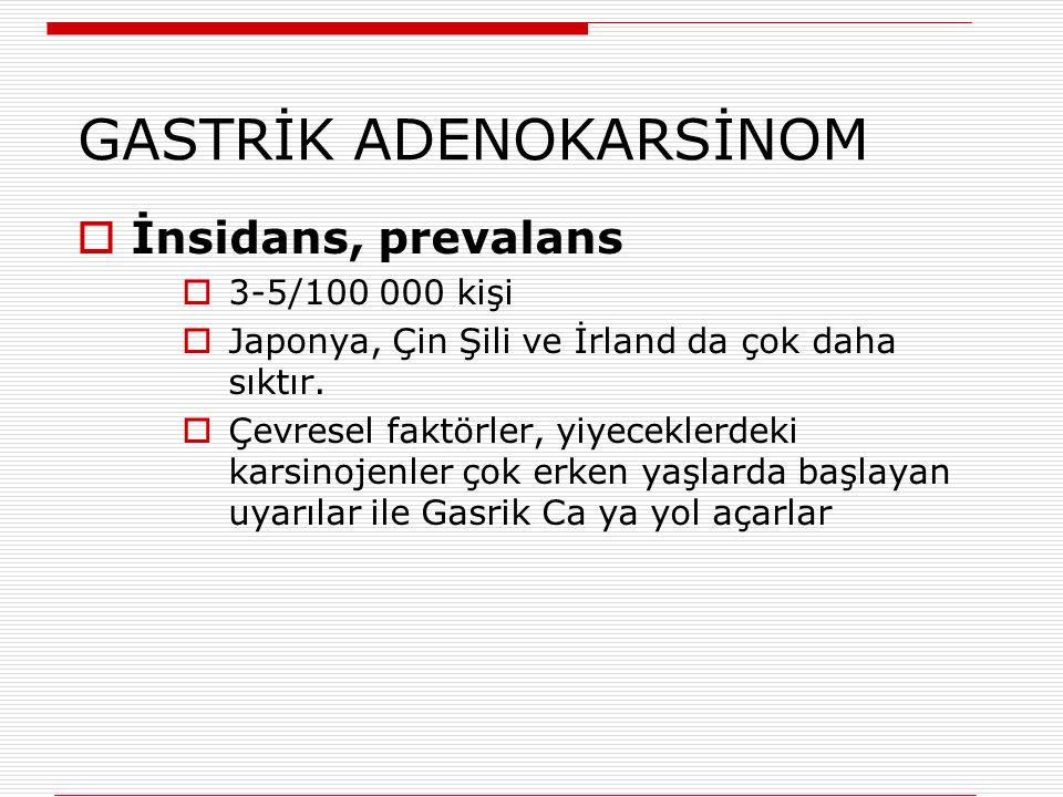 GASTRİK ADENOKARSİNOM
