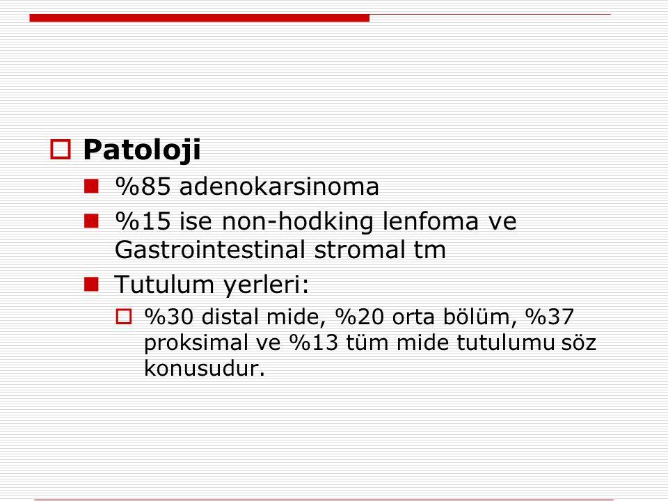 Patoloji %85 adenokarsinoma