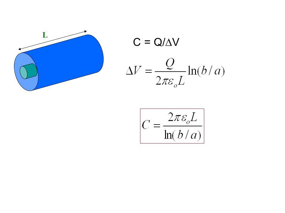 L C = Q/V