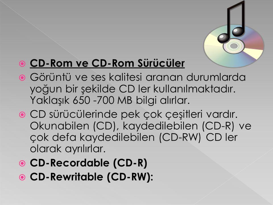 CD-Rom ve CD-Rom Sürücüler