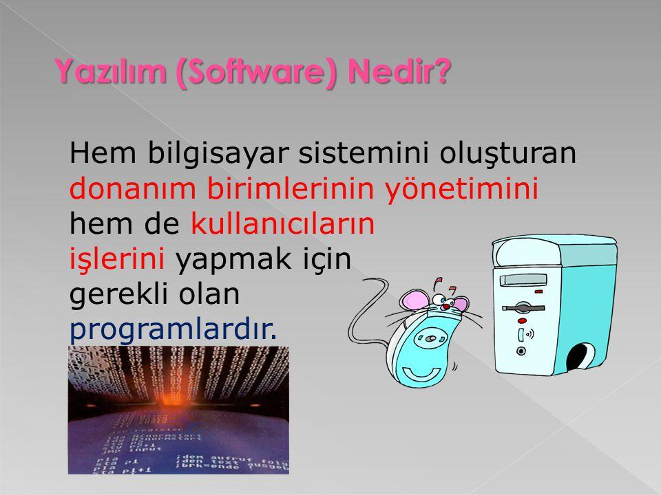 Yazılım (Software) Nedir