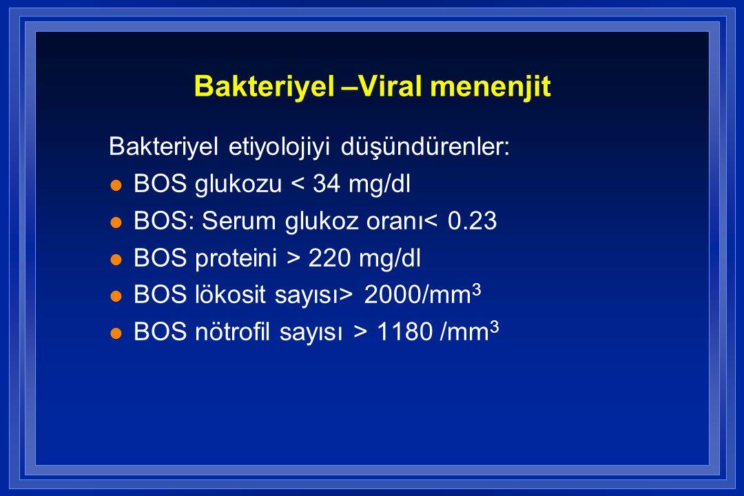 Bakteriyel –Viral menenjit