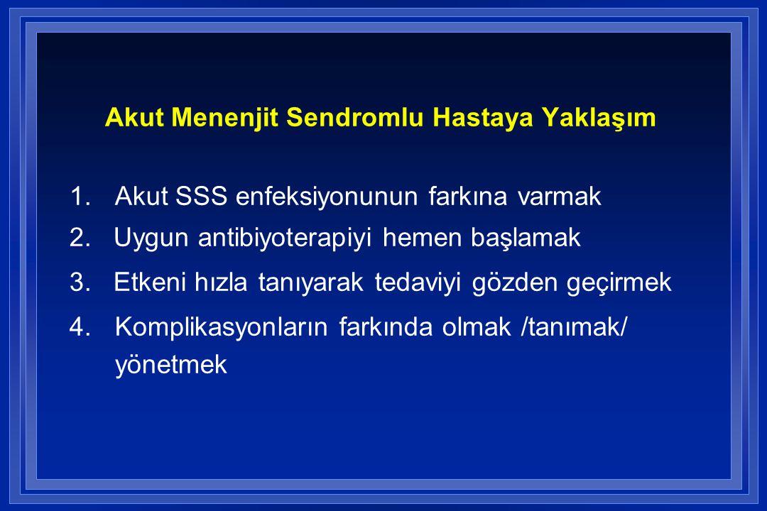 Akut Menenjit Sendromlu Hastaya Yaklaşım