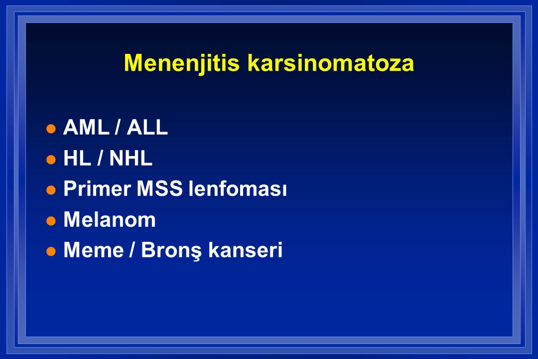 Menenjitis karsinomatoza