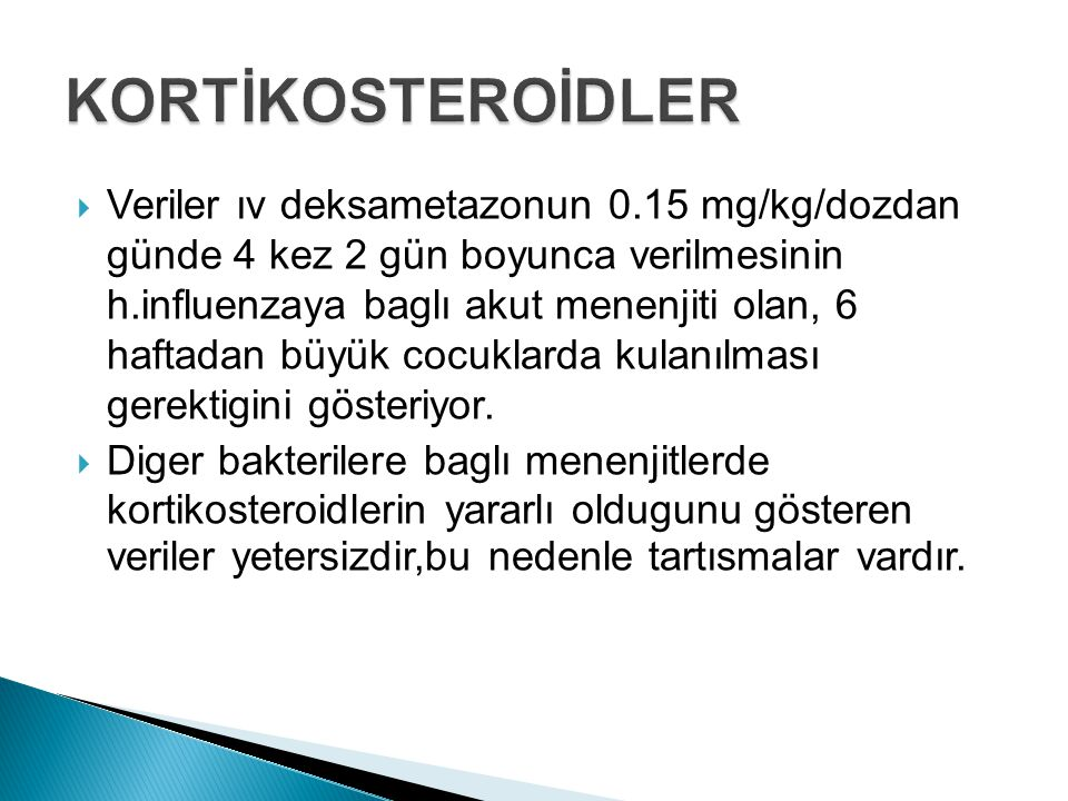 KORTİKOSTEROİDLER