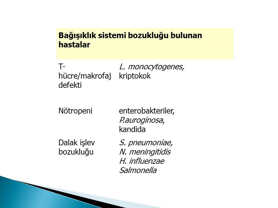 Bağışıklık sistemi bozukluğu bulunan hastalar