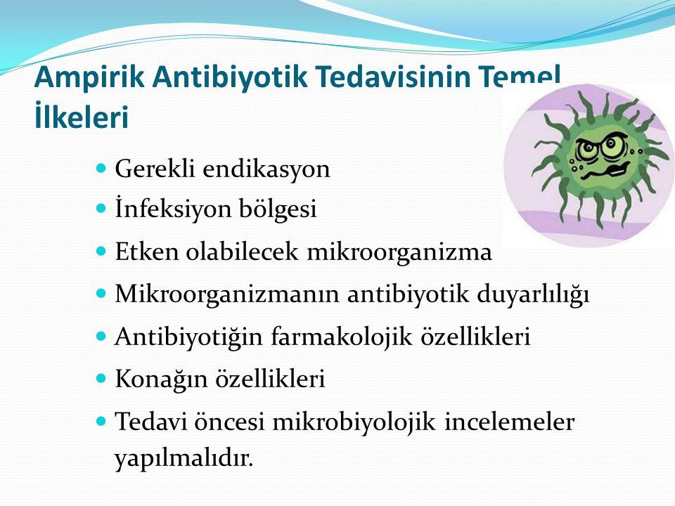 Ampirik Antibiyotik Tedavisinin Temel İlkeleri