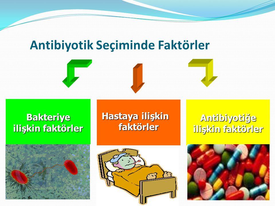 Antibiyotik Seçiminde Faktörler