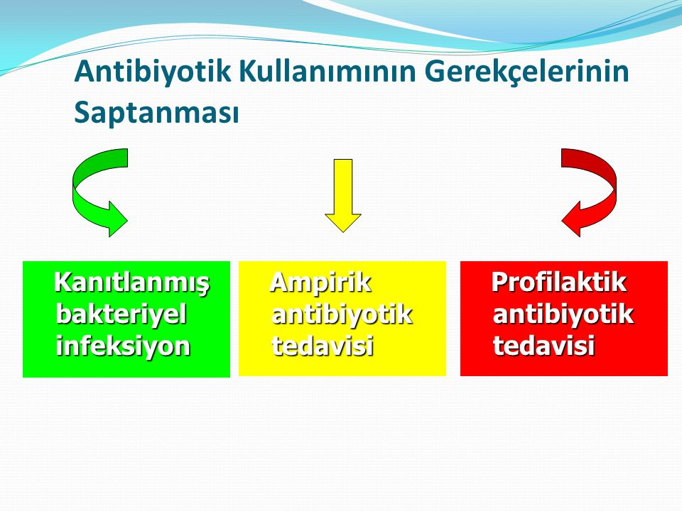 Antibiyotik Kullanımının Gerekçelerinin Saptanması