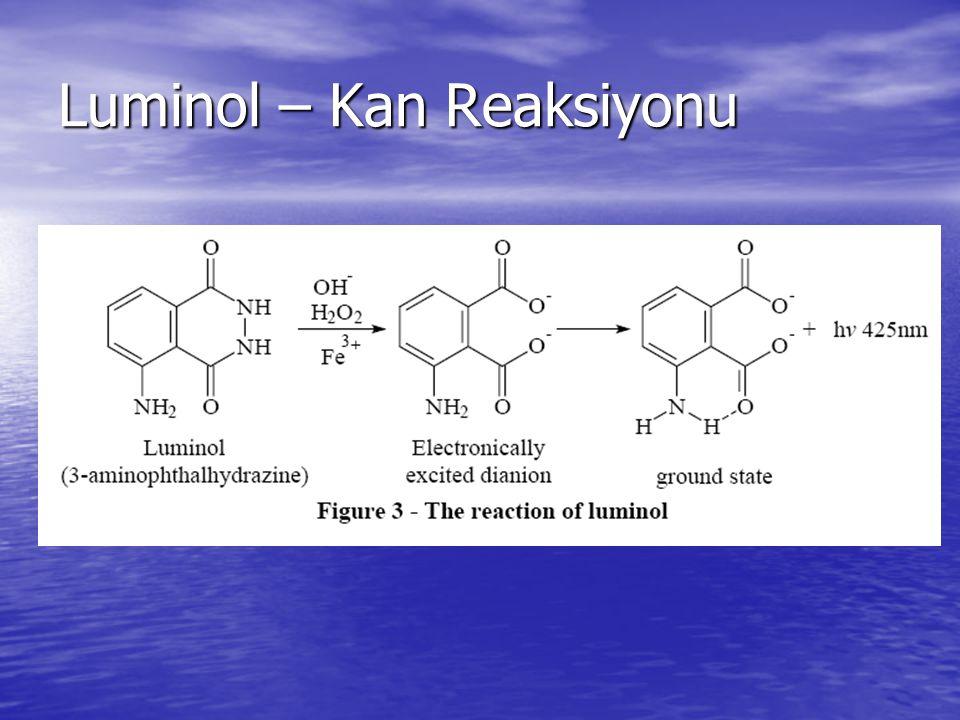 Luminol – Kan Reaksiyonu