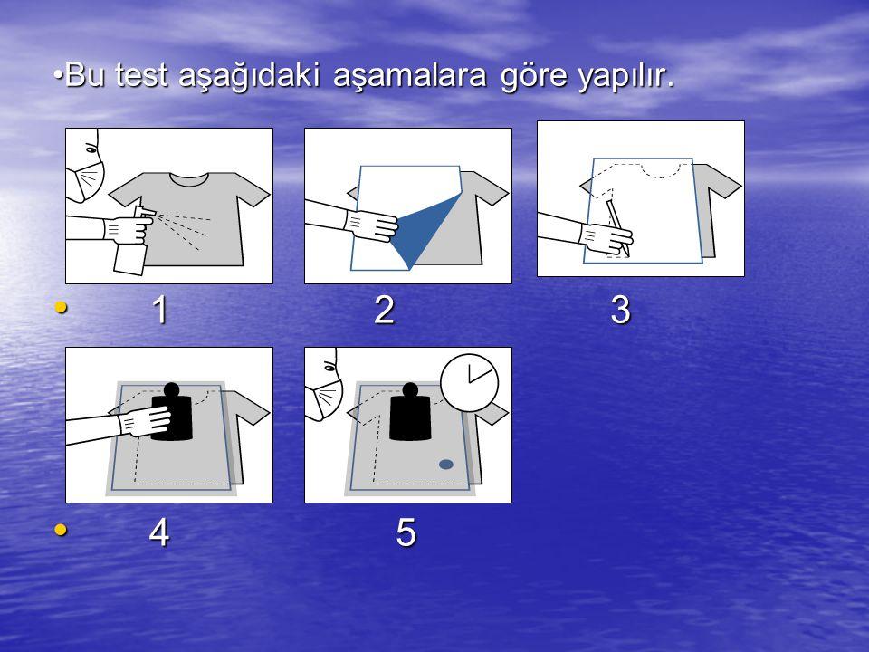 Bu test aşağıdaki aşamalara göre yapılır.