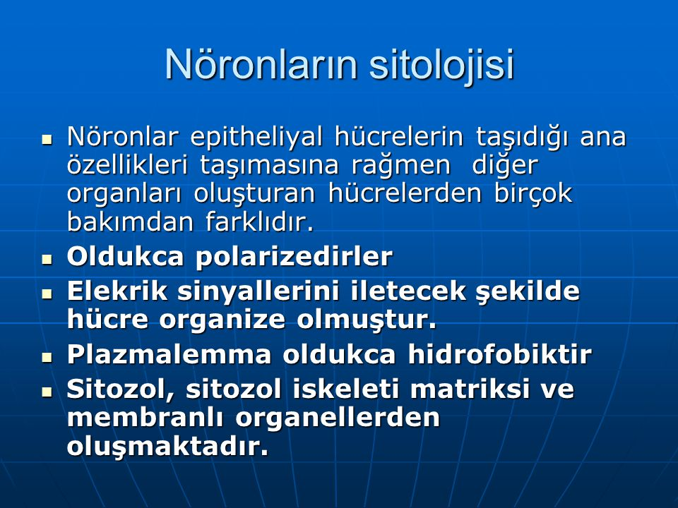 Nöronların sitolojisi