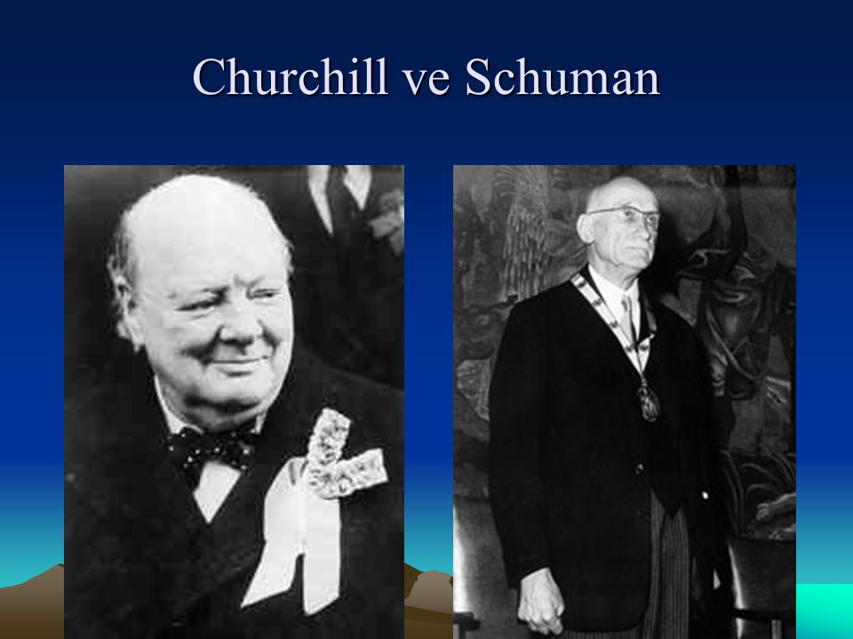 Churchill ve Schuman