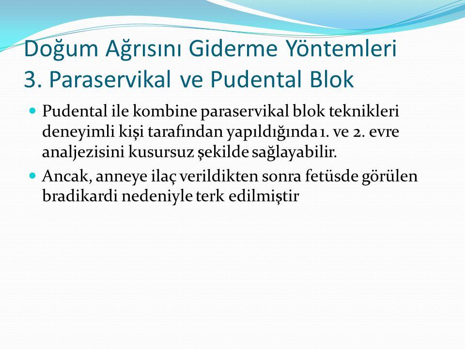 Doğum Ağrısını Giderme Yöntemleri 3. Paraservikal ve Pudental Blok