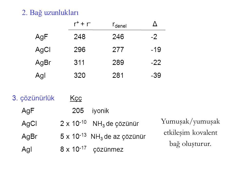 Yumuşak/yumuşak etkileşim kovalent bağ oluşturur.