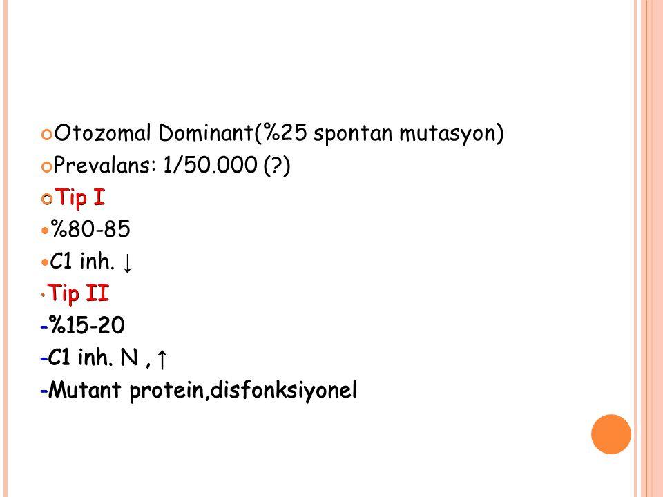 Otozomal Dominant(%25 spontan mutasyon)