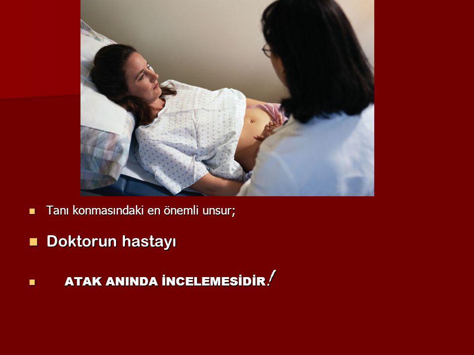 Doktorun hastayı Tanı konmasındaki en önemli unsur;