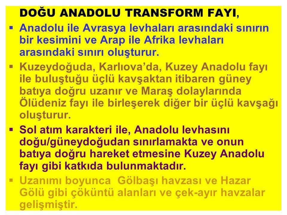 DOĞU ANADOLU TRANSFORM FAYI,