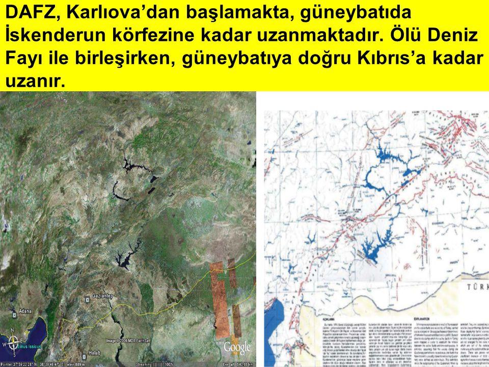 DAFZ, Karlıova'dan başlamakta, güneybatıda İskenderun körfezine kadar uzanmaktadır.