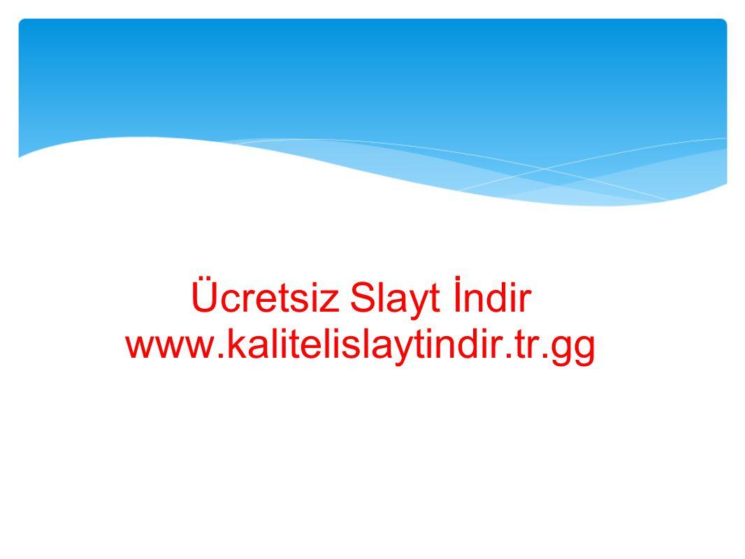 Ücretsiz Slayt İndir www.kalitelislaytindir.tr.gg