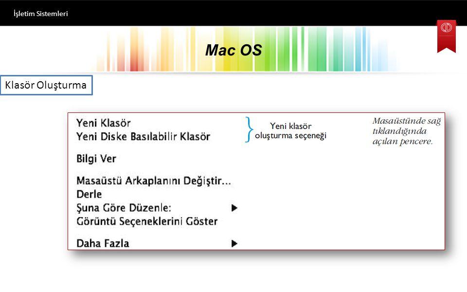 İşletim Sistemleri Mac OS Klasör Oluşturma
