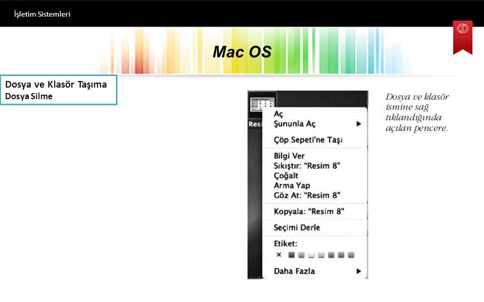 İşletim Sistemleri Mac OS Dosya ve Klasör Taşıma Dosya Silme