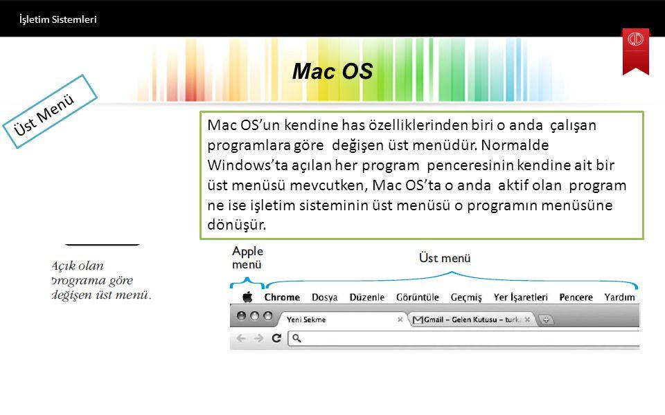 İşletim Sistemleri Mac OS. Üst Menü.
