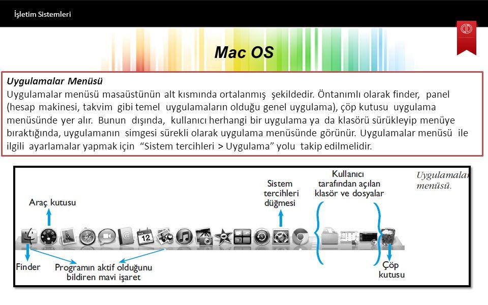 Mac OS Uygulamalar Menüsü