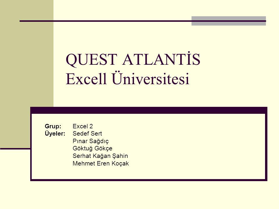 QUEST ATLANTİS Excell Üniversitesi