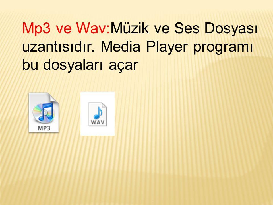 Mp3 ve Wav:Müzik ve Ses Dosyası uzantısıdır